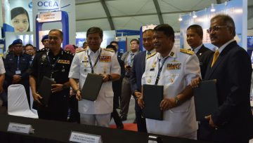 Cooperative Notes Signing Ceremony between MASA and Royal Malaysian Navy, Malaysian Maritime Enforcement Agency and Marine Police Force